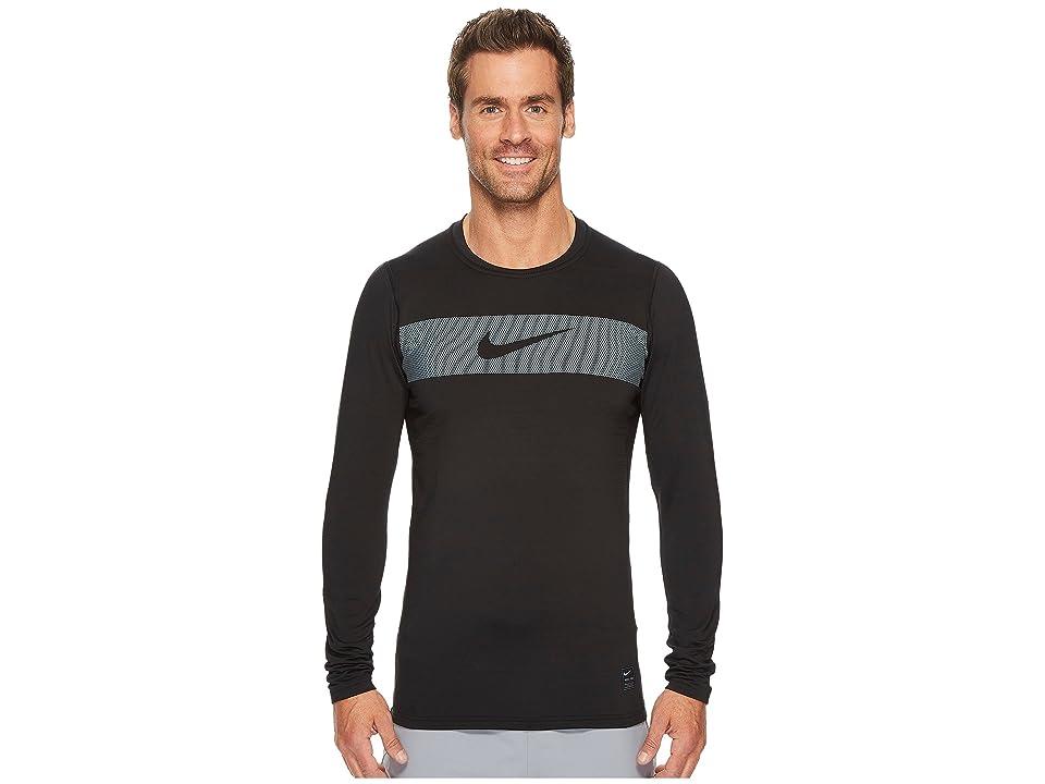 Nike Pro Warm Long Sleeve Training Top (Black/Cool Grey/White) Men