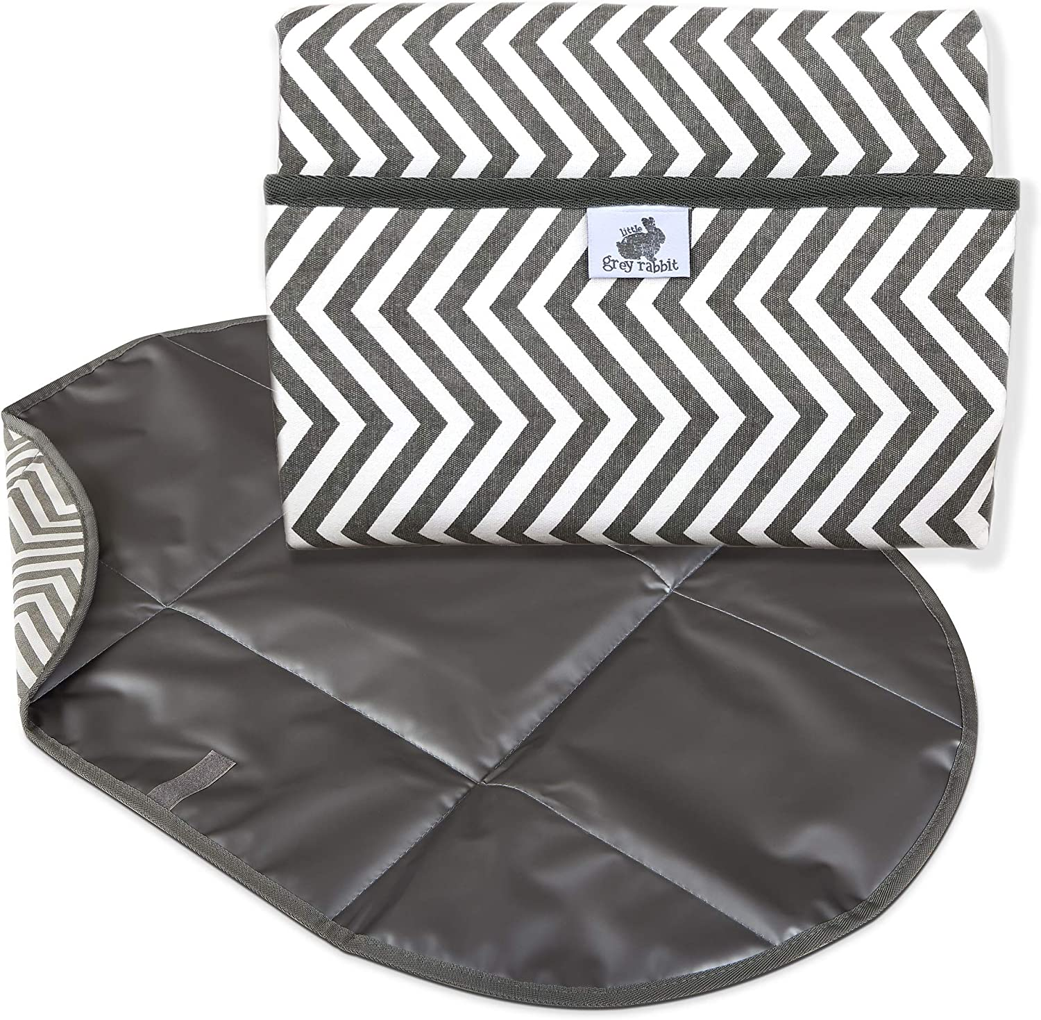 Quick Fold Diaper unisex Changing Pad by Baby Rabbit Max 61% OFF Grey Little Nurs