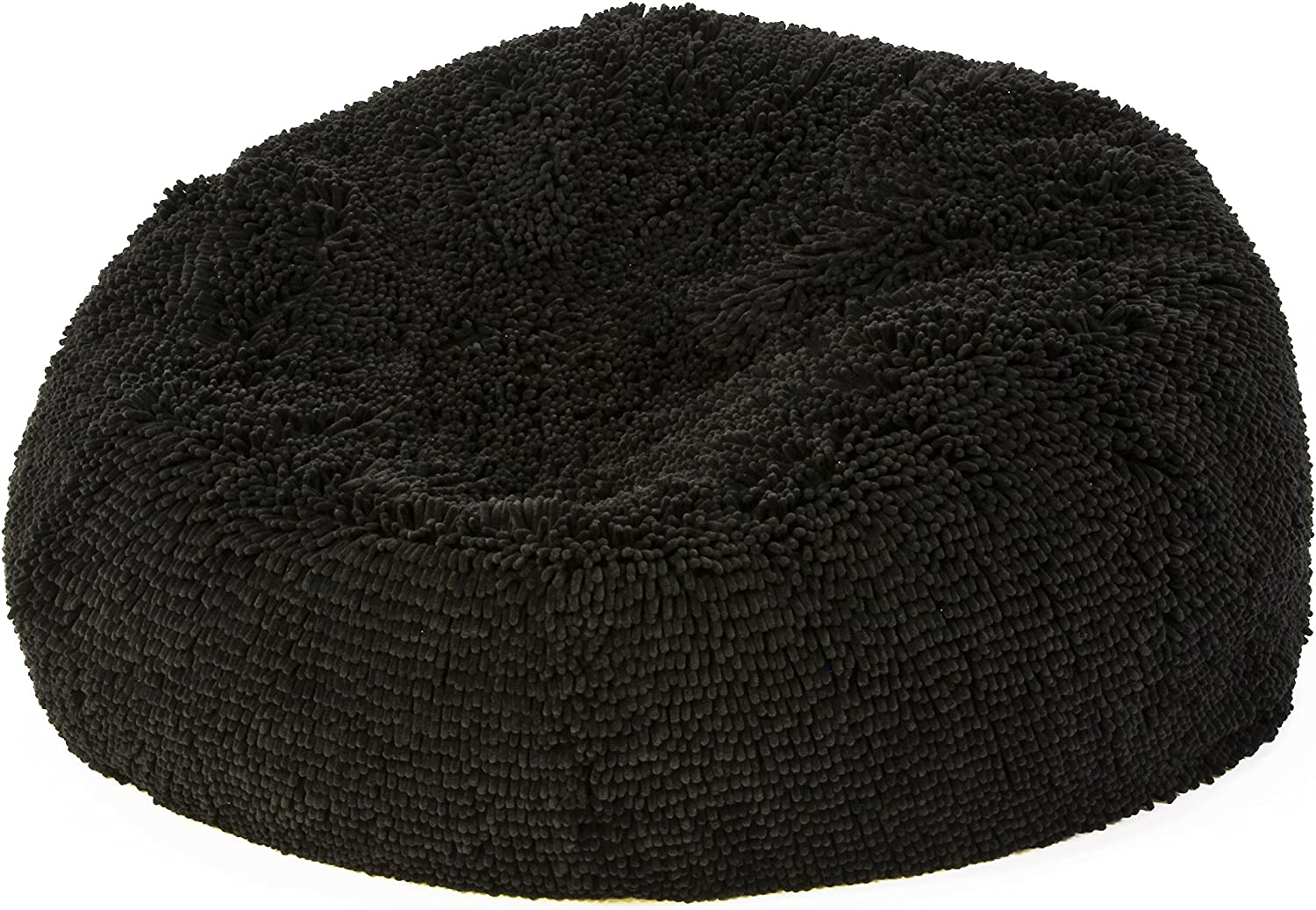 Shags, CA Mega Premium Bean Bag Chair, Pitch Black