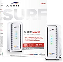 ARRIS Surfboard (16x4) DOCSIS 3.0 Cable Modem, 686 Mbps Max Speed, Certified for Comcast Xfinity, Spectrum, Cox, Cablevision & More (SB6183 White)