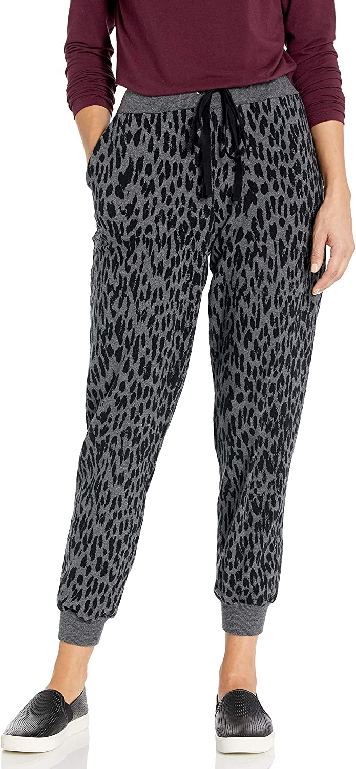 Vince Camuto Women's Animal Notes French Terry Jogger