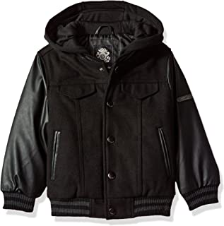 English Laundry Toddler Boys' Outerwear Jacket (More Styles Available), Fleece Hood-E266-Black, 3T