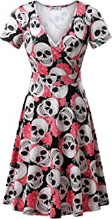 Best ladies halloween print dress Reviews