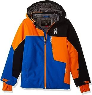 Boys' Ambush Ski Jacket, Turkish Sea/Exuberance/Black, Size 14