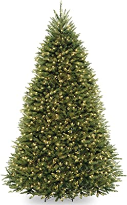 10' Pre-Lit Dunhill Fir Artificial Christmas Tree – Dual Color LED Lights