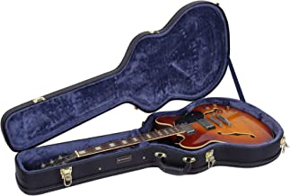 Crossrock CRW600SABK Semi-Hollow & Hollowbody Electric Guitar Case in Black, Fits 335 Style