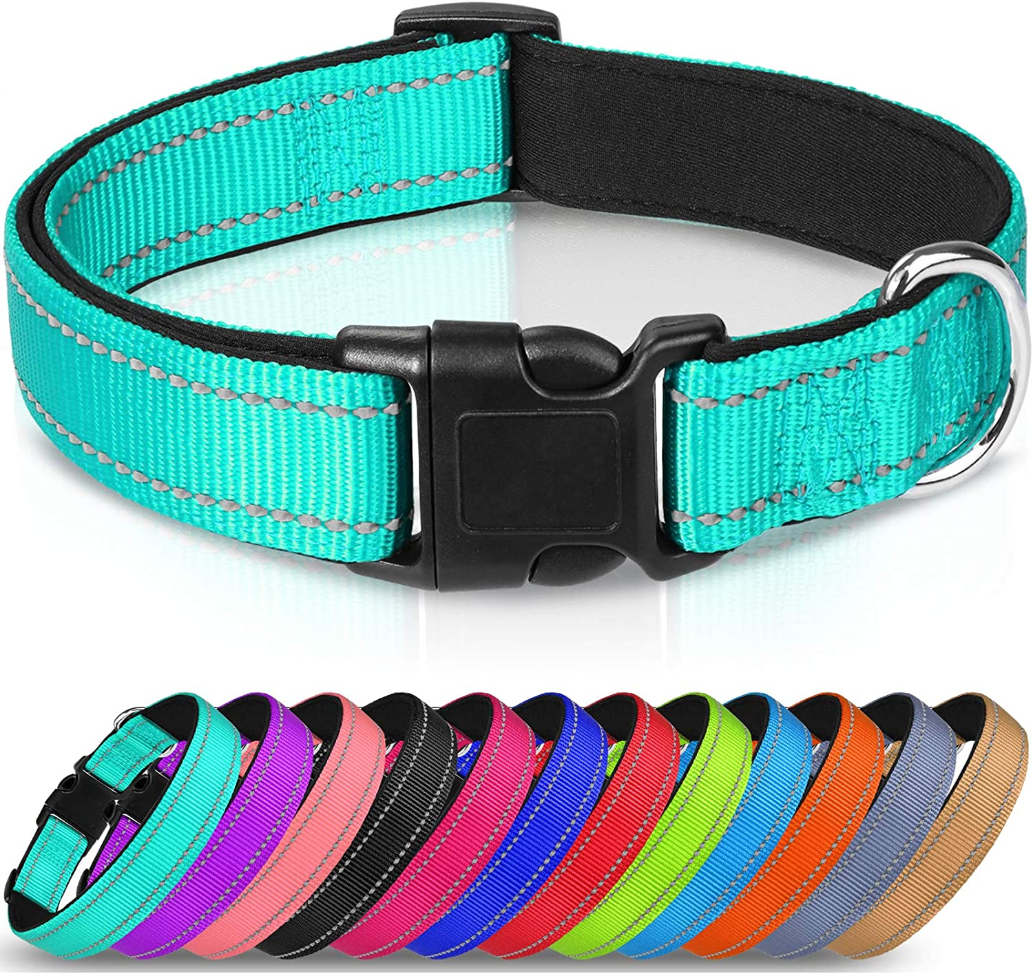 Joytale Reflective Al sold out. Dog 2021 spring and summer new Collar 12 Padded Colors Bre Soft Neoprene