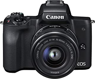 CanonEOS M50 Single Digital Camera Kit with EF-M 15-45mm IS STM, Camera Assist, Black (Australian warranty)