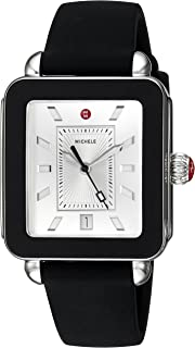Michele Women's Deco Sport Black Silicone Watch