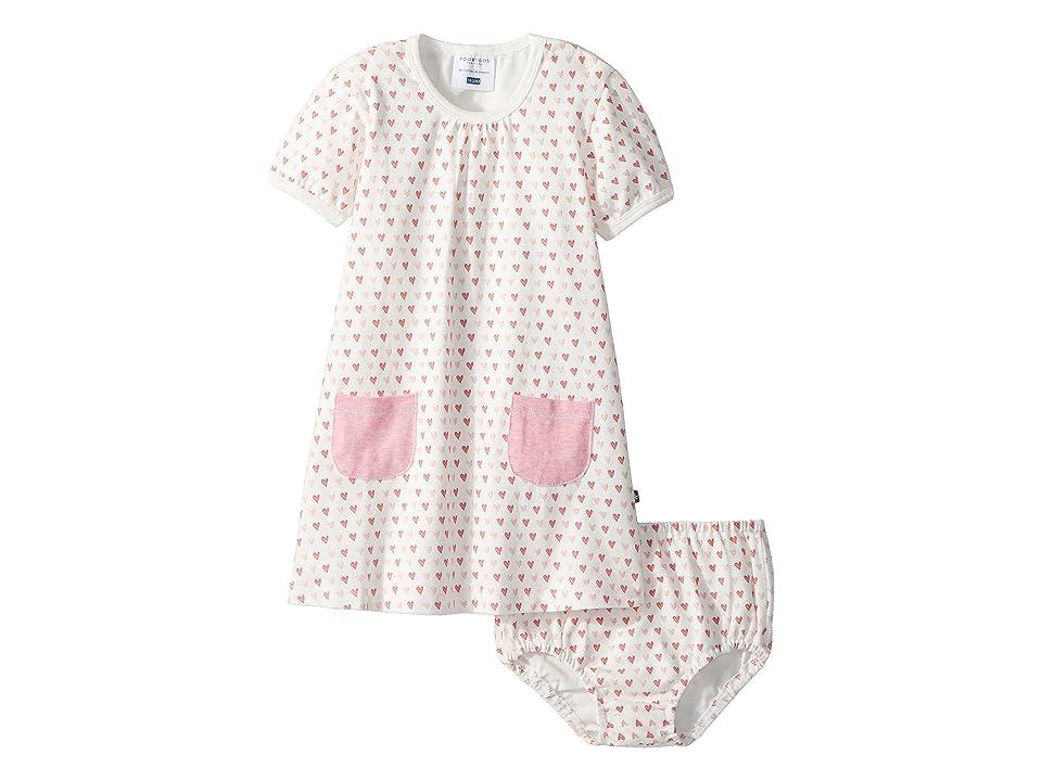 Toobydoo Sweet Hearts Pocket Dress (Infant/Toddler) (Pink Hearts) Girl