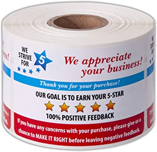 Thank You for Your Purchase 5 Star Feedback Labels 3