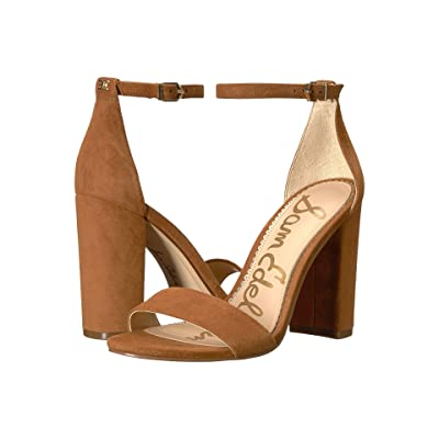 Sam Edelman Yaro Ankle Strap Sandal Heel (Luggage Kid Suede Leather) Women