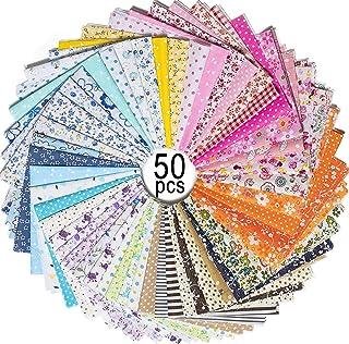 MOOKLIN ROAM 50 Pezzi Tessuto Cotone, Stoffa Patchwork Tessuti a metraggio, Scampoli Stoffe per Cucito Creativo al Metro p...