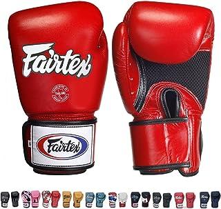 Fairtex Muay Thai Boxing Training Sparring Gloves (Red (Breathable),8 oz)