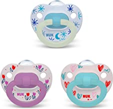 NUK Orthodontic Pacifier Value Pack, Girl, 6-18 Months, 3-Pack