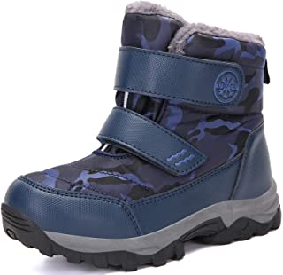 UBFEN Kids Snow Boots Boys Girls Winter Warm Waterproof Outdoor Slip Resistant Cold Weather Unisex Shoes (Toddler/Little K...