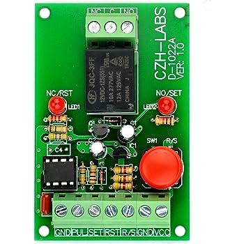 Module relais de minuterie Module de commutation de temps r/églable RD72-A 1pc AC100V-250V Module de minuterie /à cycle infini,/Relais de temporisation ON//OFF