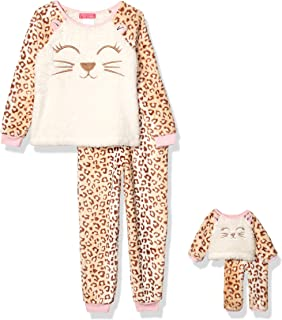 St. Eve Girls' Big Character Plush Fleece Me and My Dream Doll Pajama Set