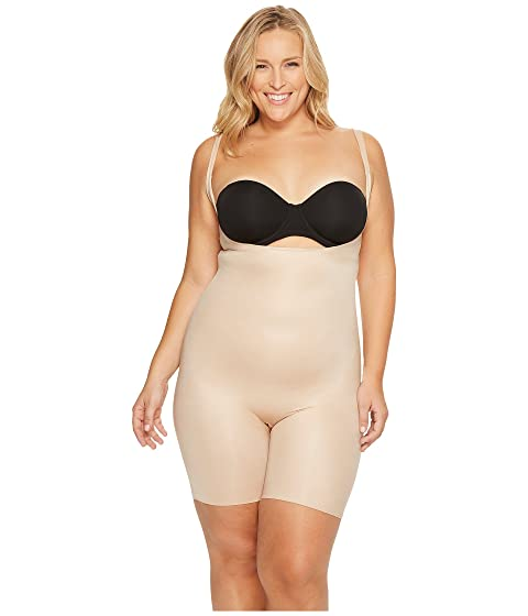6e549d3092201 Spanx Plus Size Power Conceal-Her Open-Bust Mid-Thigh Bodysuit at ...