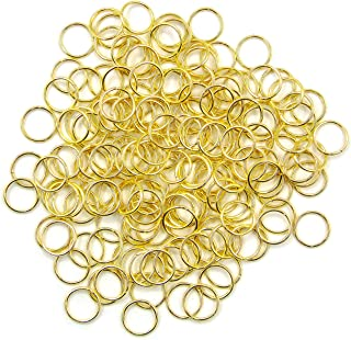 Gold VNDEFUL 2320 Piece 5mm Open Jump Rings Jewelry DIY Findings for Jewelry Making