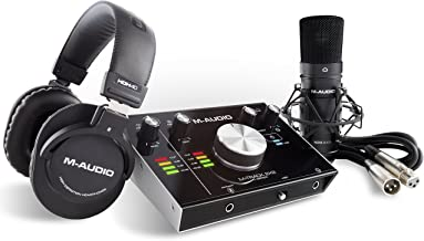 M-Audio M-Track 2X2 Vocal Studio Pro | Complete Vocal Production Package Including a Pro-Grade Interface, condenser Microphone, XLR Cable, Headphones and the C-Series Software Suite
