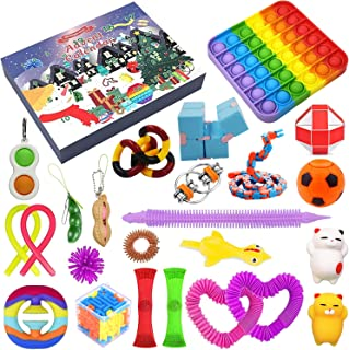 2021 Christmas Advent Calendar Toy Set, 24Pcs Holiday Christmas Countdown Calendar Sensory Fidget Toys Pack, Simple Dimple...
