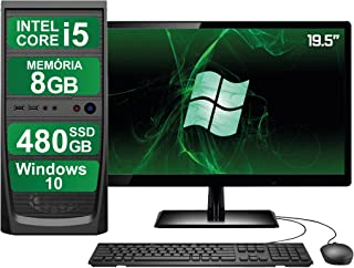 "Computador Completo Intel Core i5 8GB SSD 480GB Windows 10 Monitor 19"" HDMI 3green ElitePC"