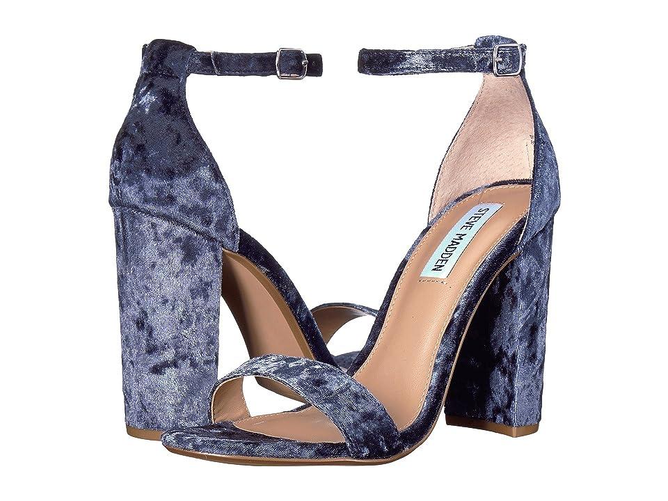 Steve Madden Carrson Heeled Sandal (Blue Velvet) High Heels