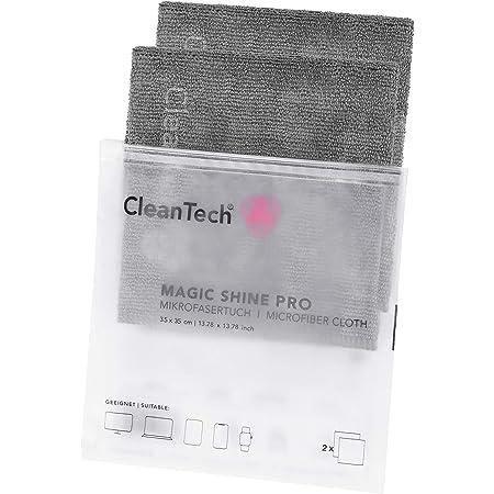 2er Pack I Cleantech Magic Shine Pro Mikrofasertücher I Elektronik