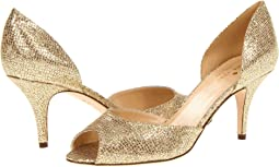 Heels, Peep Toe, Gold, Women | Shipped Free at Zappos