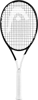 HEAD Graphene 360 Speed MP Midplus 16x19 Black/White Tennis Racquet Strung with Custom Complimentary String Colors (Best Racket for Spin and Power)