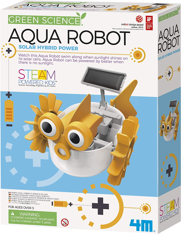 Recommendation 4M Aqua Fish Solar Hybrid Robot Kit Kids Columbus Mall Science Power