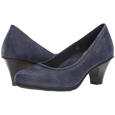 Earth Bijou (Navy Printed Suede) High Heels