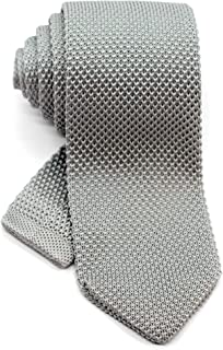 Men's Pointed Knit Tie Necktie Width 2.75 inches Washable Solid Color and Pattern