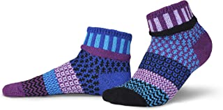 Solmate Socks Mismatched Ankle Socks for Women/Men, USA Made with Recycled Yarns