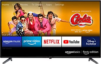 AmazonBasics 81cm 32 inches Fire TV Edition HD Ready Smart LED TV AB32E10SS Black