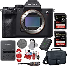 Sony Alpha a7R IV Mirrorless Digital Camera (Body Only) with Two 64GB Pro Memory Cards, Camera Case and Pro Accessories Bundle