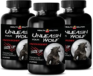 male enhancing pills increase size and girth - UNLEASH YOUR WOLF - SIZE UP - MALE ENHANCEMENT - Maca - 3 Bottles (180 Capsules)