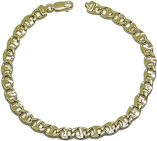 Bracciale da uomo, modello ancora cava, 20,50 cm di lunghezza, 6 mm di larghezza e 8,30 g di peso in oro 18 carati, chiusu...