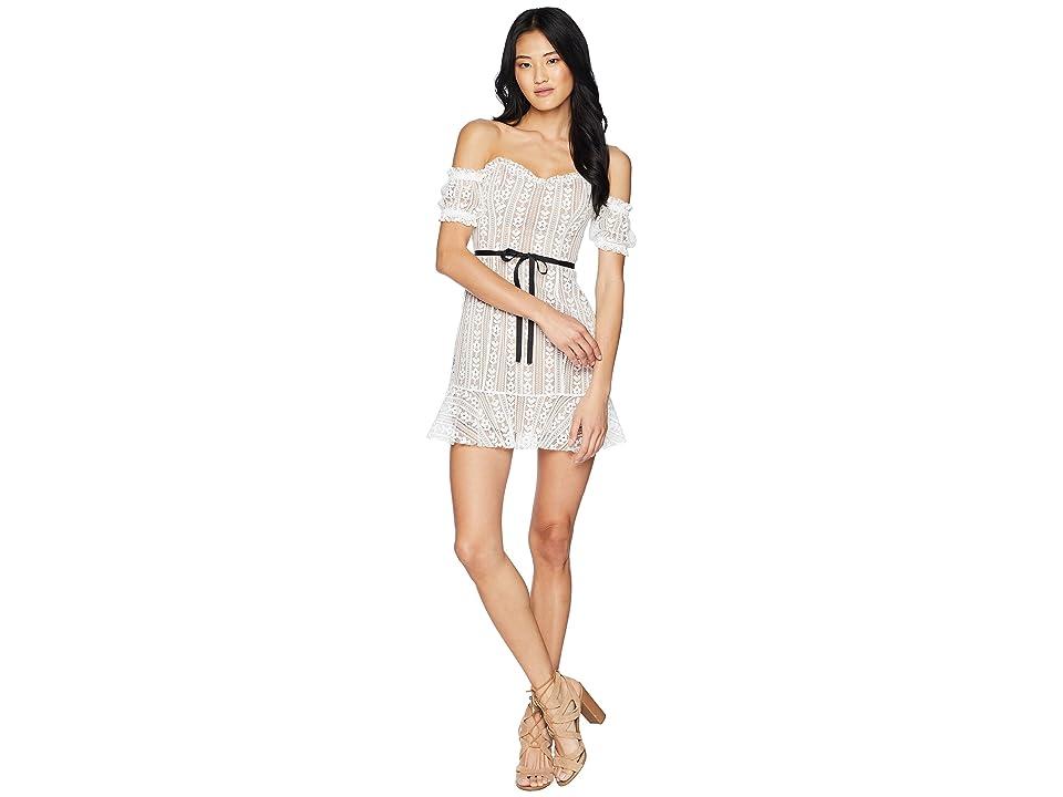 For Love and Lemons Dakota Mini Dress (White) Women