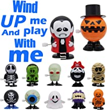 ATDAWN 12 Pack Halloween Wind Up Toy, Halloween Toy Assortments, Halloween Goody Bag Filler