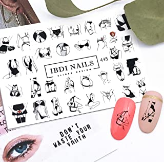 IBDI Sexy and provocative lingerie nail Decals/Sliders for manicure or pedicure, Decal for nails, Slider for manicures and pedicures, Nail art