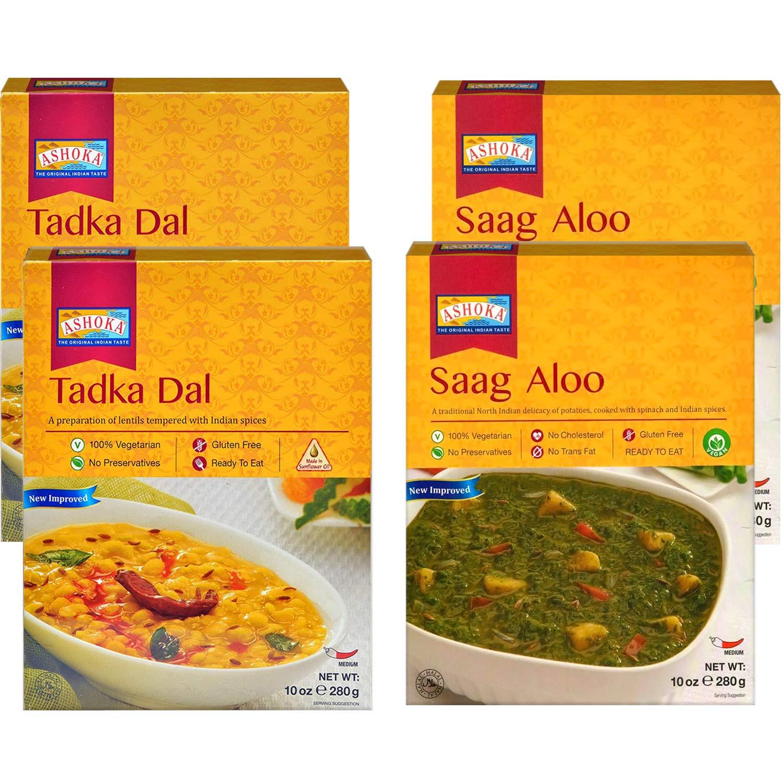 Ashoka - RTE Over item In a popularity handling ☆ Combo #2 Tadka Dal Aloo 4 Pack t Saag Ready