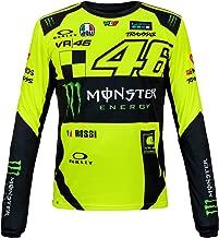 2018 VR46 Valentino Rossi #46 MotoGP Mens T-Shirt Tee Long Sleeve Monster Energy