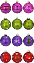 Inge`s Christmas Decor Happy Xmas Baubles Glass Colourful 6 cm
