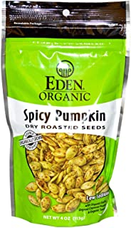 Eden Foods Organic Pumpkin Seeds Dry Roasted Spicy -- 4 oz Each / Pack of 2