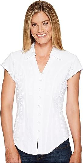 65a804c0e82c83 Unique Vintage Cotton Short Sleeve Button Up Mazzie Blouse at Zappos.com