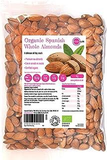 PINK SUN Biologisch Hele Amandelen 1kg Rauwe Natuurlijke Spaanse Noten Ongeroosterd Ongezouten Met Huiden Glutenvrij Vegan...