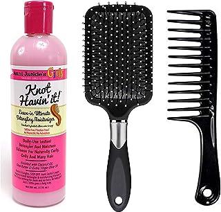 Aunt Jackie's Girls Knot Havin' It, Leave-in Ultimate Hair Detangler 12 Ounce (Including Large Cushion Detangle Paddle Hai...