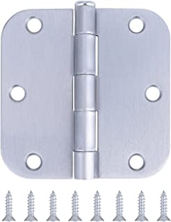 Pack of 10 Residential Door Hinges - 3.5 Inch - Satin Chrome Finish - 5/8